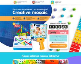 Конструктор-мозаика с шуруповертом Creative mosaic